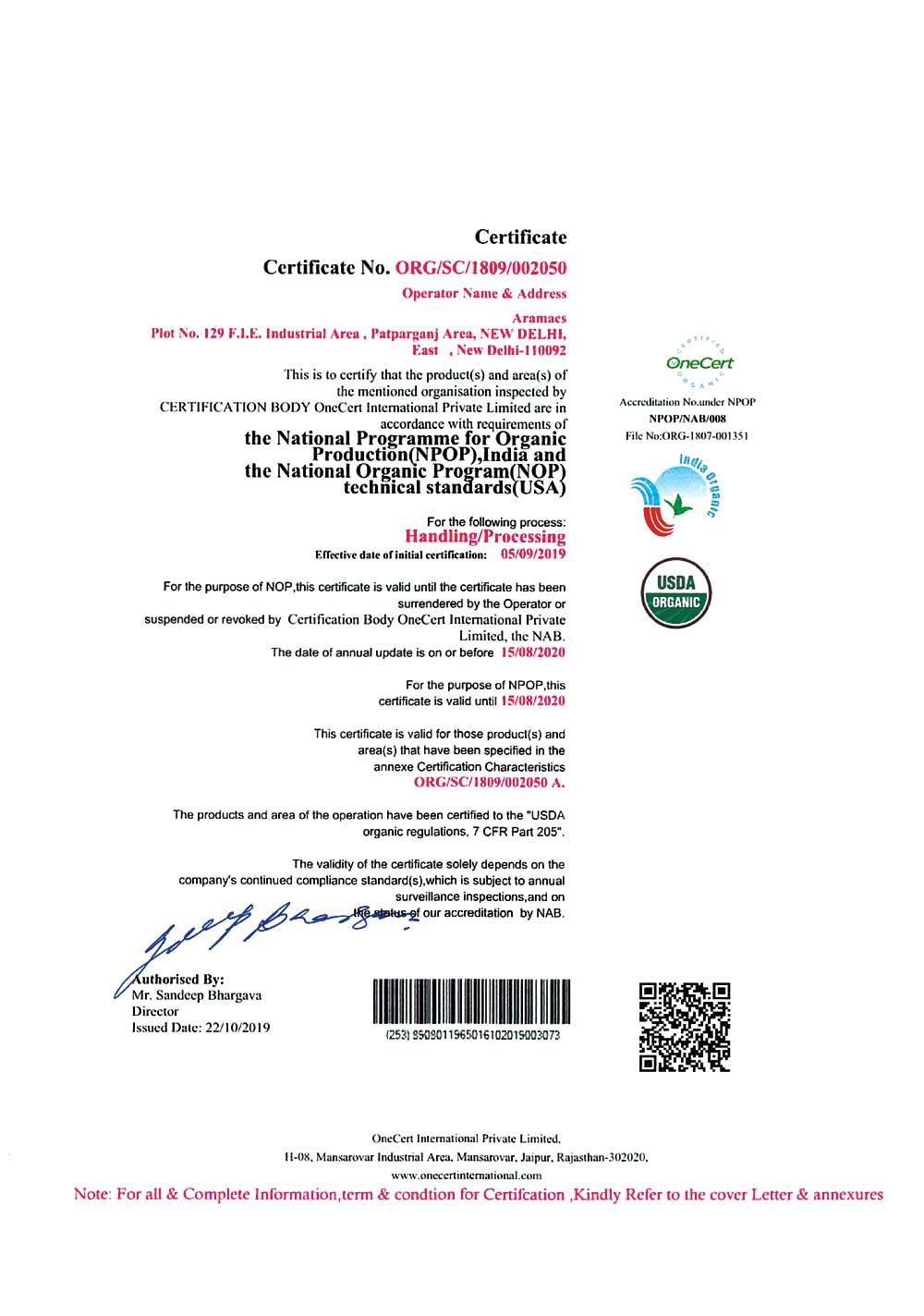 USDA Certified Essential Oil Company